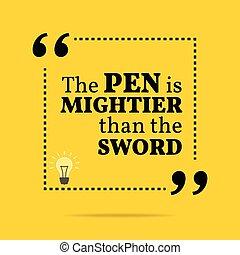 Pen is mightier than sword essay