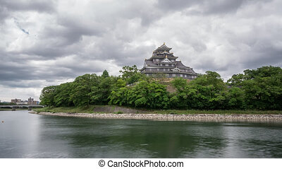Long exposure Time Lapse of Okayama Castel in Japan - Long...