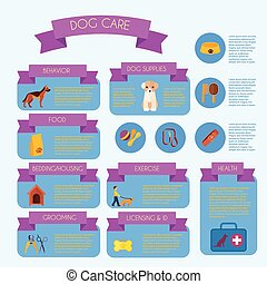Dog care infographic banner layout - Dog care infographic...