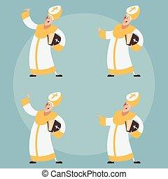 Set of Catolic Popes - Vector image of a Set of Catolic...