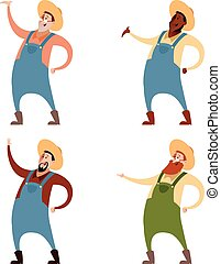 Set of farmers - Vector image of a Set of farmers