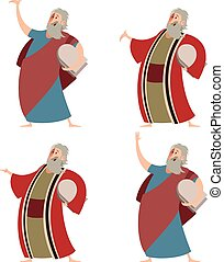 Set of Moses - Vector image of a Set of Moses