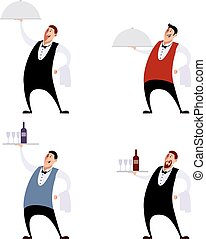 Set of waiters - Vector image of a Set of waiters