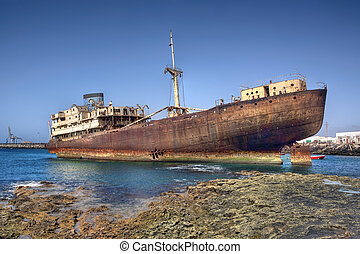 An old wreck on Lanzarote