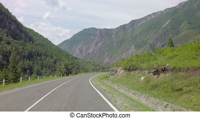 Beautiful Chuysky Trakt in Altai Mountains - Beautiful...