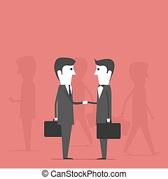 Buisness People. Making deals - Buisness People. Image of a...