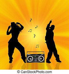 hip hop couple - illustration of hip hop couple