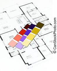 House plans isolated against a white background