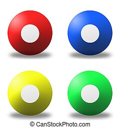 Lotto Balls - Lotto balls isolated against a white...
