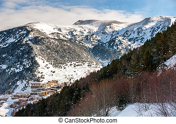 Aerial view of El Tarter in Andorra - Aerial view of El...