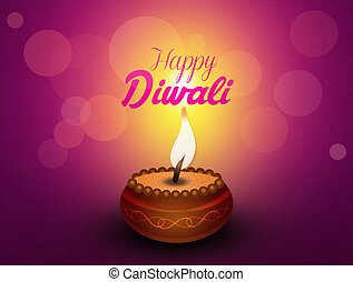 Greeting postcard of Diwali - illustration of greeting...