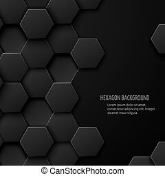 Carbon technology vector abstract background with space for text