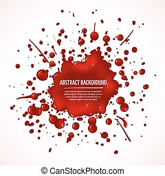 Red blood splash vector abstract background