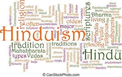 Hinduism word cloud