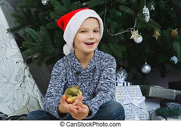 Girl thinking about gifts for Christmas or New Year