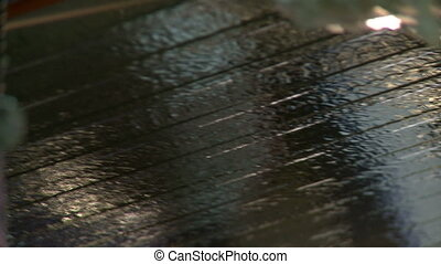 Rippled coating for sandwich panels, close-up
