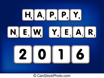 Happy New Year 2016 Scrabble - Happy New Year 2016 in...
