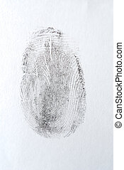 Fingerprint - detail of black fingerprint isolated on white