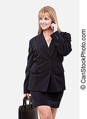 Attractive young twenties caucasian businesswoman -...