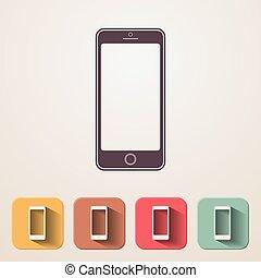 Smartphone icon set