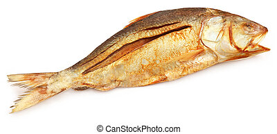 Popular Ilish fish dried of Southeast Asia over white...