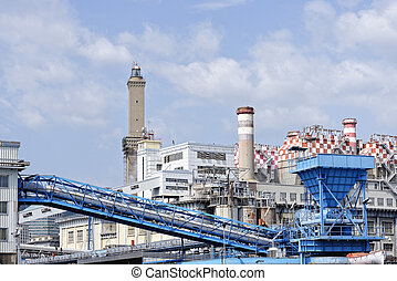 electic power plant - electric power plant in the harbour of...