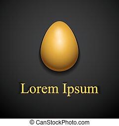 Stylish creative gold easter egg