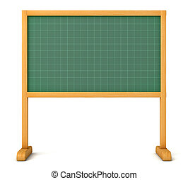School board ready for your message. Front view. Isolated on...