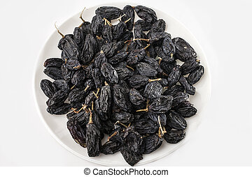 raisin on a white background.