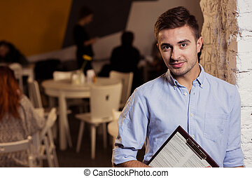 Self-employed restaurant owner - Picture of young and...