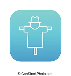 Scarecrow line icon - Scarecrow line icon for web, mobile...