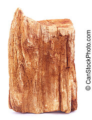 Sedimentary rock over white background