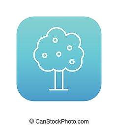 Fruit tree line icon. - Fruit tree line icon for web, mobile...