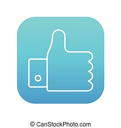 Thumb up line icon.