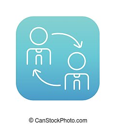 Staff turnover line icon - Staff turnover line icon for web,...