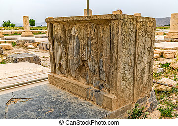 Pasargadae relief remains - The remains of the old relief...