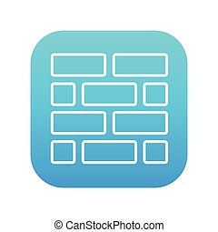 Brickwall line icon - Brickwall line icon for web, mobile...