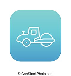 Road roller line icon. - Road roller line icon for web,...