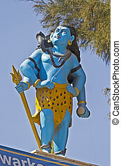 Lord Shiva - FEB 8, 2015, DWARKA, INDIA - Sculpture of Lord...