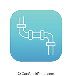 Water pipeline line icon. - Water pipeline line icon for...