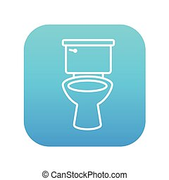 Lavatory bowl line icon - Lavatory bowl line icon for web,...