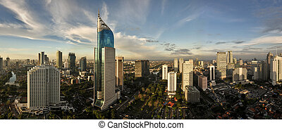 Modern cityscape - Jakarta City Panoramic in high detail