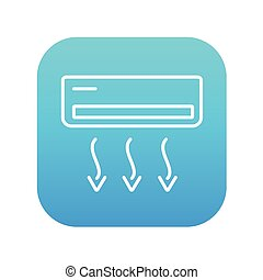Air conditioner line icon - Air conditioner line icon for...