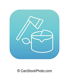 Deforestation line icon - Deforestation line icon for web,...