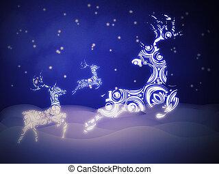 Ornamental Deer Background - Celebration background with...