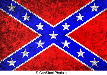 The Confederate flag. - National flag of the Confederate...