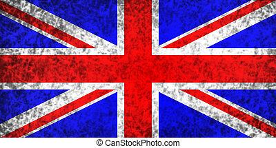 Fahne, vereint, königreich