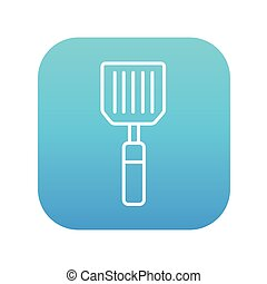 Kitchen spatula line icon. - Kitchen spatula line icon for...