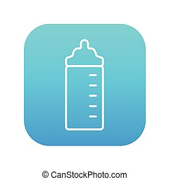 Feeding bottle line icon. - Feeding bottle line icon for...
