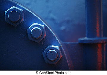 Blue pipe